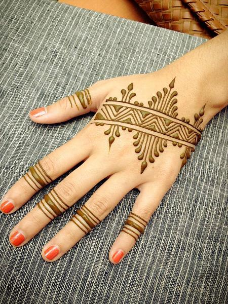 Small Hand Henna Tattoo
